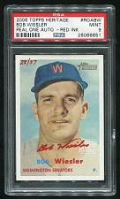 Buy 2006 TOPPS HERITAGE REAL ONE RED AUTO BOB WEISLER PSA 9 MINT (26086651)