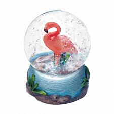 Buy *18440U - Flamingo Figurine Mini Glass Snow Globe