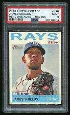 Buy 2013 TOPPS HERITAGE REAL ONE RED AUTO JAMES SHIELDS PSA 9 MINT (40778304)