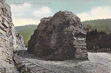Buy Towanda, Rocky Cut, P.B. & E Railroad PA Vintage Postcard