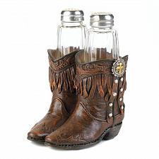 Buy *17553U - Cowboy Boots Western Style Salt & Pepper Shaker Set