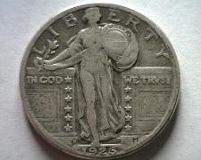 Buy 1926-D STANDING LIBERTY QUARTER VERY FINE VF NICE ORIGINAL COIN FROM BOBS COINS
