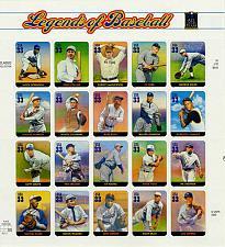 Buy 2000 33c Legends of Baseball, Souvenir Sheet of 20 Scott 3408 Mint F/VF NH