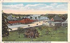Buy General View, Harbor & B.M. Station, Manchester By The Sea Mass Vintage Postcard