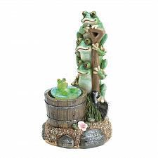 Buy *17855U - Solar Power Light-Up Rotating Frog Garden Decor Yard Art