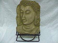 Buy BUDDHA IMAGE HOT ITEM SAND STONE COLLECTIBLE VINTAGE WITH STAND 1