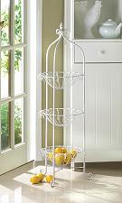 Buy *15487U - White Metal 3 Basket Corner Plant Stand