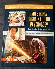 Buy Industrial Organizational Psychology: Understanding the Workplace 'Complimentary