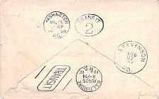 Buy Double American Machine Transit (Washington DC & Baltimore) Back-stamps on Cover