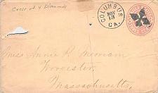 Buy U59,Columbus, GA Fancy Cancel, 4 Diamond Cross, circa 1870 Use
