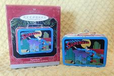 Buy 1998 Hallmark Commemorative Edition Tin Superman Lunch Box Ornament DC Comics