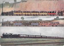 Buy London & North Western Railway Showing 3 Different Era Trains Vintage Postcard