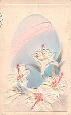 Buy Easter Greetings, Air Brushed Embossed Egg Vintage Postcard