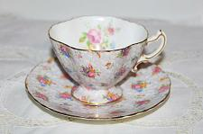 Buy Hammersely Chintz Teacup & Saucer Pink Roses Chintz English Teacup & Saucer