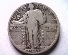 Buy 1928 STANDING LIBERTY QUARTER GOOD+ G+ NICE ORIGINAL COIN BOBS COINS FAST SHIP