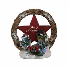 Buy :10973U - Light Up Merry Christmas Wreath Star Bird Figure Decoration