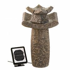 Buy 12844U - Asian Temple Stone Look Solar Power Water Fountain Yard Art