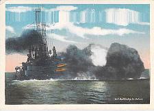 Buy US Navy, U.S. Battleship in Action Vintage Postcard