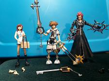 Buy Play Arts Action Figures Kingdom Hearts - Kairi, Sora, Roxas Collectable EUC
