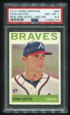 Buy 2013 TOPPS HERITAGE REAL ONE RED AUTO EVAN GATTIS PSA 8.5 NM-MT+ (41680174)