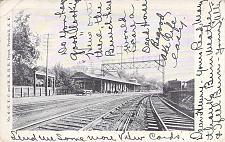Buy N.Y.C. and H.R. Railroad Depot, Peekskill, NY. Vintage Postcard