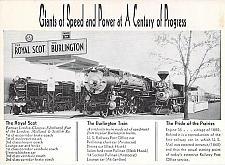 Buy Burlington Route, Royal Scot and Burlington Railroad Vintage Postcard