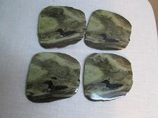 Buy M370ma Genuine Madoc Rock Stone Coasters w Loon Bird Image Set of 4