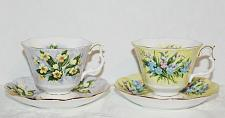 Buy Vintage Royal Albert Teacups & Saucers Festival Series Lot of 2 Sets