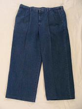 Buy Men's Haggar Expandable Work to Weekend Denim Jeans Classic Fit Pleated 44 X 27