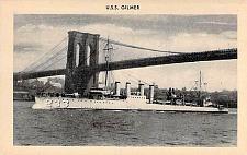 Buy US Navy U.S.S. Gilmer Pre WW II Picture Vintage Postcard