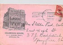 Buy Apollo PA Advertising Cover, Pittsburg Barry Transit Cancel Front and Reverse
