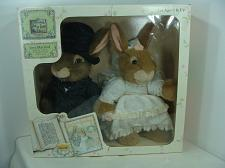 "Buy Dakin Holly Pond Hill Just Married 13"" Plush Bunny Couple Victoria & Edmund Box"