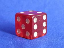 Buy Clue Red Translucent Die Replacement Part Game Piece 1972 Parker Brothers