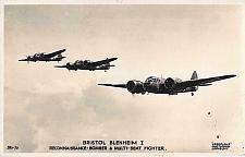 Buy British Bristol Blenheim I, WW II Bomber Valentines Vintage Postcard