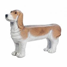 "Buy *18341U - 32"" Small Basset Hound Doggy Bench Garden Yard Art"