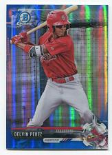 Buy 2017 BOWMAN DRAFT CHROME 70TH BLUE REFRACTOR DELVIN PEREZ, BDC-147, 36/200