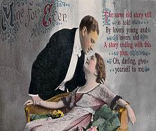 Buy Mine For Ever Couple Tinted Photo Germany Vintage Romance Postcard