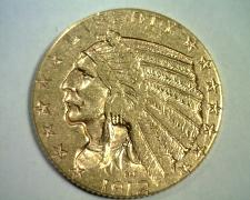 Buy 1912 FIVE DOLLAR INDIAN HEAD GOLD CHOICE ABOUT UNCIRCULATED CH AU NICE ORIGINAL