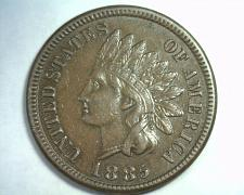 Buy 1885 INDIAN CENT PENNY ABOUT UNCIRCULATED AU NICE ORIGINAL COIN FROM BOBS COINS