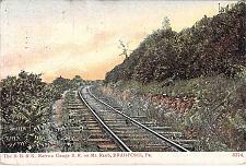Buy The B.B. & K. Narrow Gauge Railroad on Mt. Raub, Bradford, PA Vintage Postcard