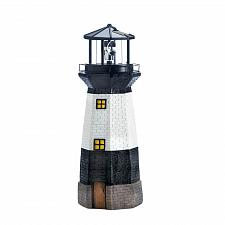 Buy *18310U - Spinning LED Solar Powered Lighthouse Garden Yard Art