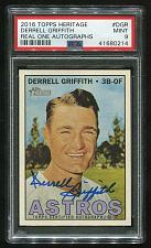 Buy 2016 TOPPS HERITAGE REAL ONE AUTO DERRELL GRIFFITH, PSA 9 MINT (41680214)