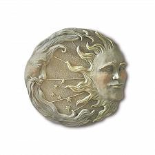 Buy 32269U - Celestial Sun Moon Stone Look Wall Plaque