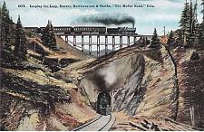 Buy Looping The Loop, Denver, Northwestern & Pacific Moffat Rd, Co. Vintage Postcard