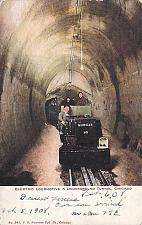 Buy Electric Locomotive in Underground Tunnel, Chicago Vintage Postcard