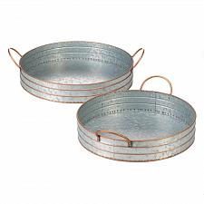 Buy *18835U - Round Galvanized Metal Serving Trays