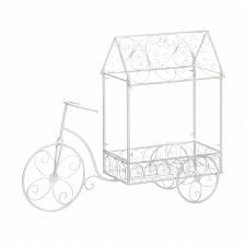 Buy *18794U - White Iron Vintage Bicycle Plant House Stand