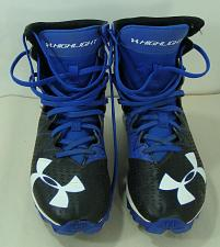 Buy Under Armour Football Cleats Youth Sz 4.5 1269697-041 Highlights Black/Royal Blu