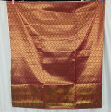 Buy Thai Tradition Red Gold Synthetic Silk Fabric For Top Skirt Wedding dress
