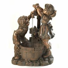 Buy 13057U - Fun And Play Children Figures Bronze Look Water Fountain Yard Art